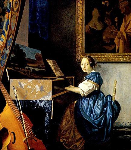 Das Museum Outlet–Dame auf Spinett von Vermeer–Leinwand Print Online kaufen (101,6x 127cm)