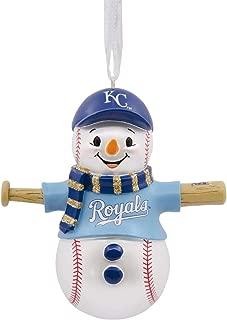 Hallmark MLB Kansas City Royals Baseball Snowman Ornament Sports & Activities,City & State