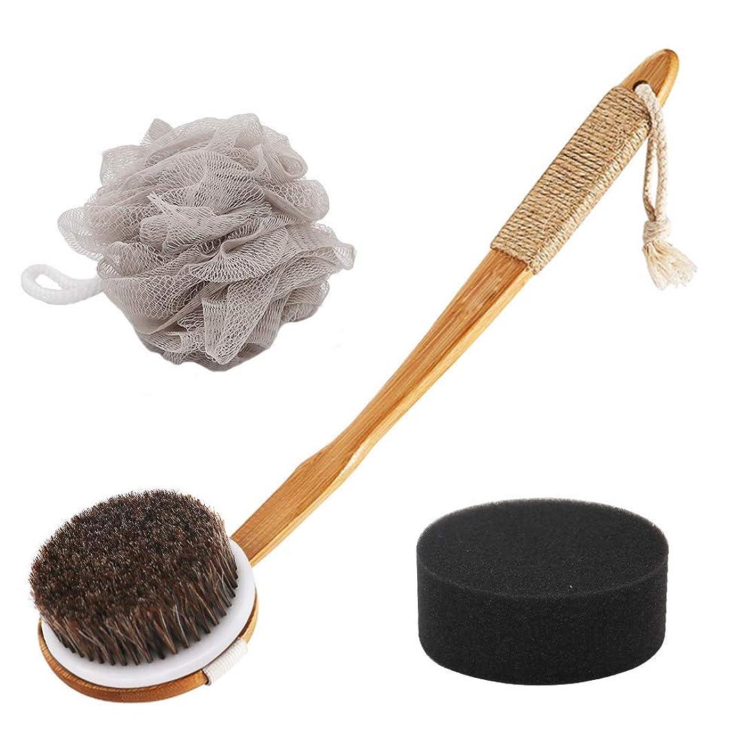 ペナルティハンディズームインするボディブラシ 体洗いブラシ角質除去 お風呂用 バスグッズ やわらか毛 あかすり ボディウォッシュボール