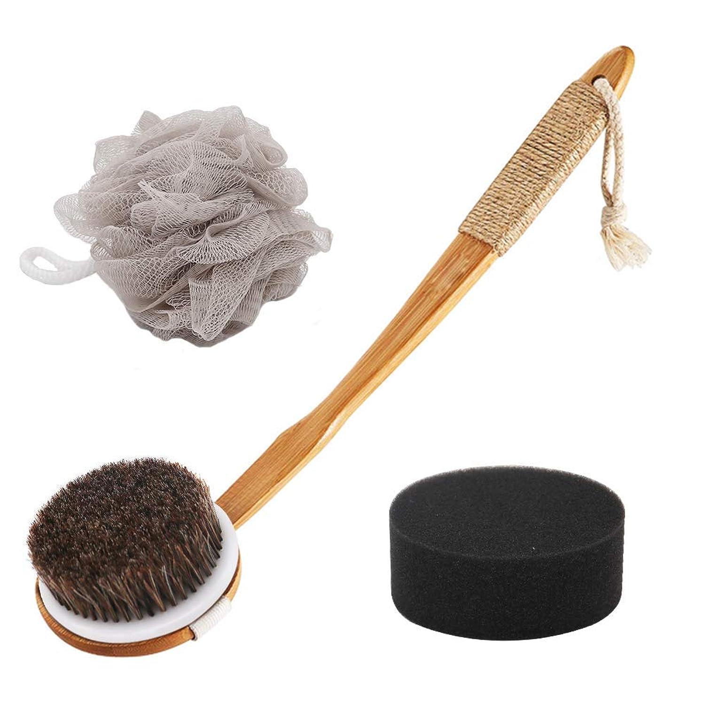 ストライクトラクター線形ボディブラシ 体洗いブラシ角質除去 お風呂用 バスグッズ やわらか毛 あかすり ボディウォッシュボール