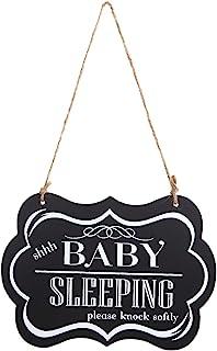 WINOMO Baby Sleeping Sign for Door