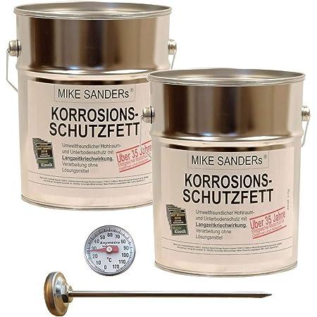 8kg Mike Sanders Korrosionsschutzfett Thermometer 120 C Hohlraumversiegelung Baumarkt