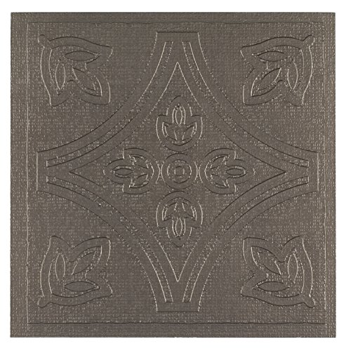 Achim Home Furnishings WTV303MT10 Metallo Wall Tile, 4 by 4-inch, Pewter/brown, 27-Pack