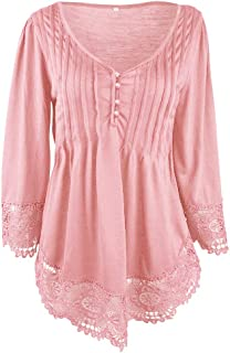 Wiwsi Women Girls Lace Design Patchwork Tunic Top Blouse Shirt Prom Party Tops