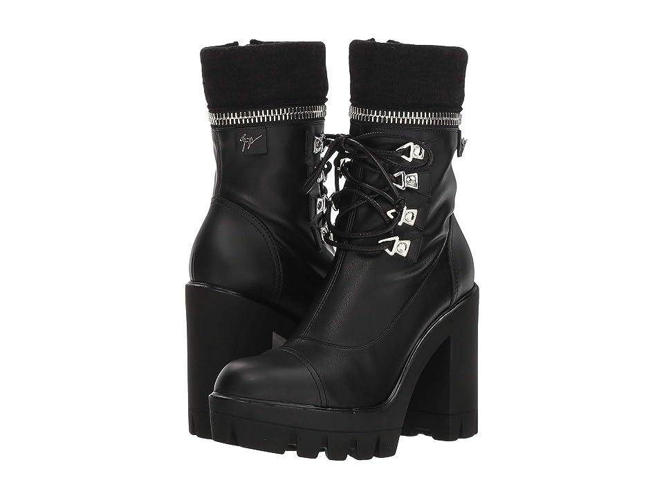 Giuseppe Zanotti Zip Top Combat Boot (Birel Nero) Women