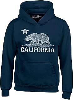 Shop4Ever California Distressed White Bear Hoodies Cali Sweatshirts