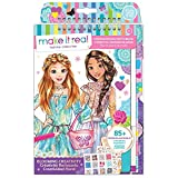 Make It Real - Fashion Design Sketchbook: Blooming Creativity. Inspirational Fashion Design Coloring Book for Girls. Includes Sketchbook, Stencils, Puffy Stickers, Foil Stickers, and Design Guide