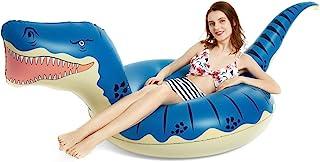 Jasonwell Inflatable Dinosaur Pool Float Tube for Boys Girls T-Rex Floatie Summer Beach Swimming Pool Inflatables T-Rex Ri...