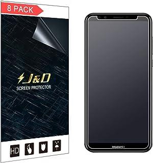 J&D 8-pack Huawei Y7 Prime 2018 skärmskydd, [Anti-bländning] [Anti-fingeravtryck] [Inte full täckning] Premium matt film s...