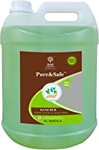 Khadi Essentials Pure&Safe Instant Hand Sanitizer Refill Pack with 70% Ethyl Alcohol, Neem, Tulsi & Aloe Vera Extracts with Glycerine (5L Bottle)