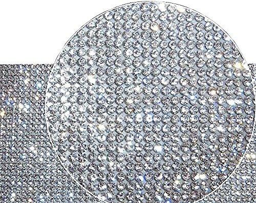 Ling's boutique(TM) 9000pcs Bling Crystal Rhinestone DIY car Decoration Sticker (White(Transparent))