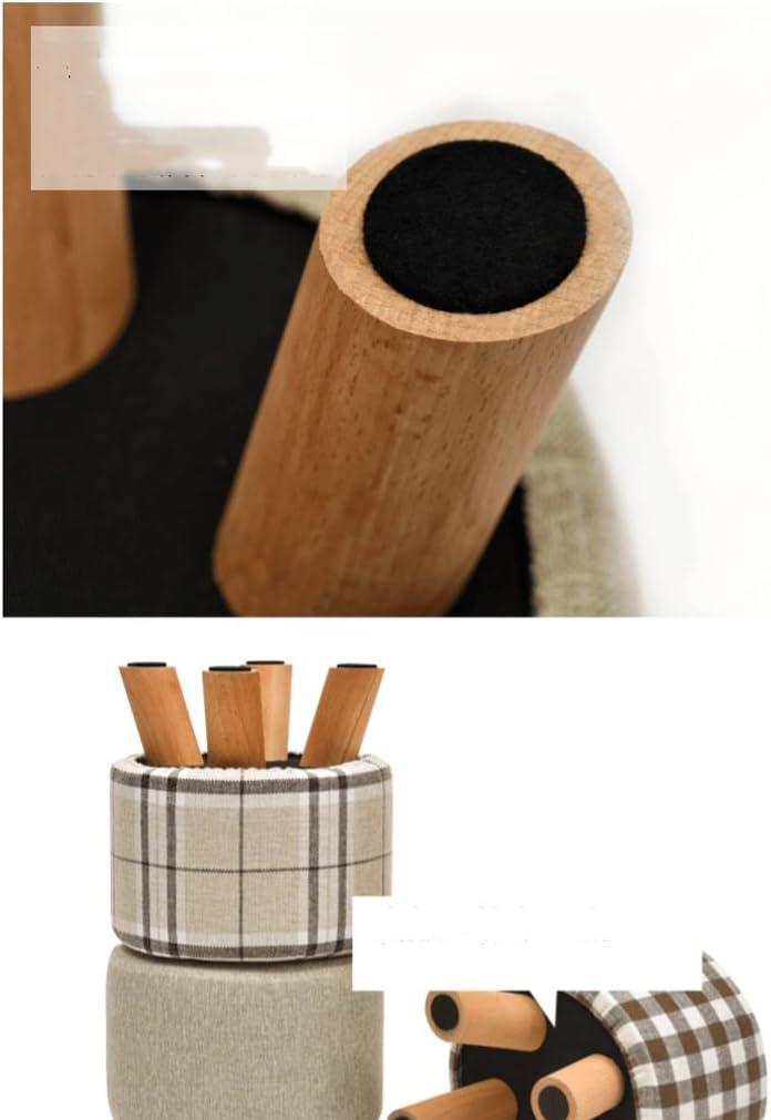 SLL- Tabouret en bois massif mode canapé tabouret tissu créatif banc maison tabouret Fauteuils et Chaises (Color : F) F