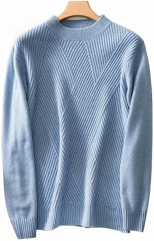 TPBOR Sweater Pullover Men's 100% Pure Cashmere Sweaters for Men's Round Neck Pullover New Flower Shape