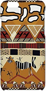 Primitive Simple Phone Case,Tribal Ethnic African Hunting Zebra Spear and Arrow Prehistoric Tribe Life Theme Compatible with iPhone 6/6s,iPhone 6,6s
