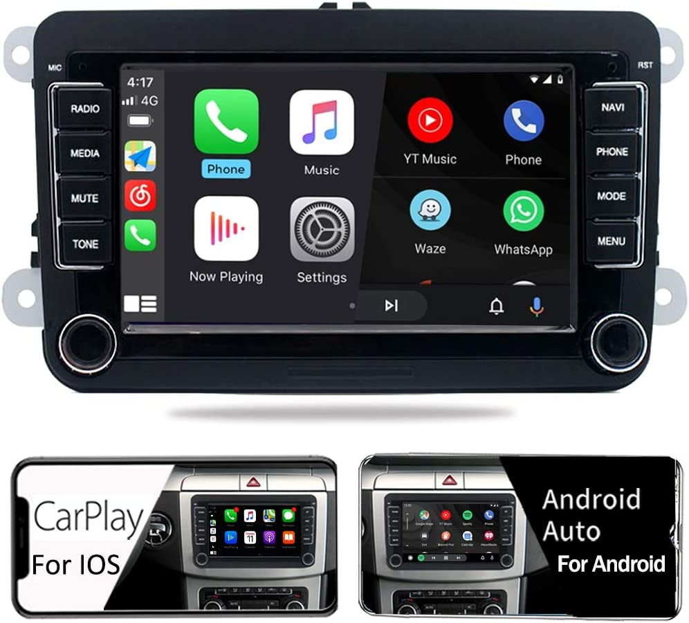 SCUMAXCON Android10 2Din Car Stereo Radio DZT017 Carplay Android Auto Bluetooth USB RVC SWC for VW Jetta Golf Passat Caddy Tiguan Transporter CC Altas