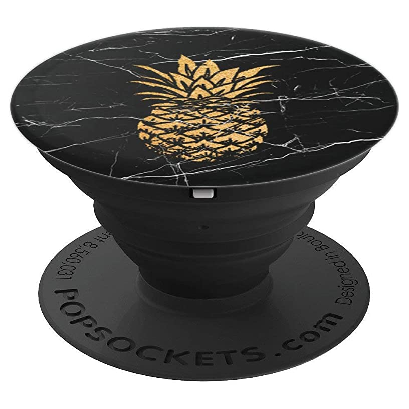 Gold Pineapple, Black White Marble, Yellow Pinapple, Cute - PopSockets Grip and Stand for Phones and Tablets