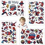 Tatuajes temporales de Spiderman, pegatinas de piel (más de 100 diseños), cumpleaños para niños, niñas, niños, útiles escolares, suministros de fiesta, regalos, pegatinas de regalo para niños…