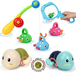 اسباب بازی های حمام مینی تودو مجموعه ماهی ، بازی ماهیگیری با لاک پشت شنا ، قطب ماهیگیری
