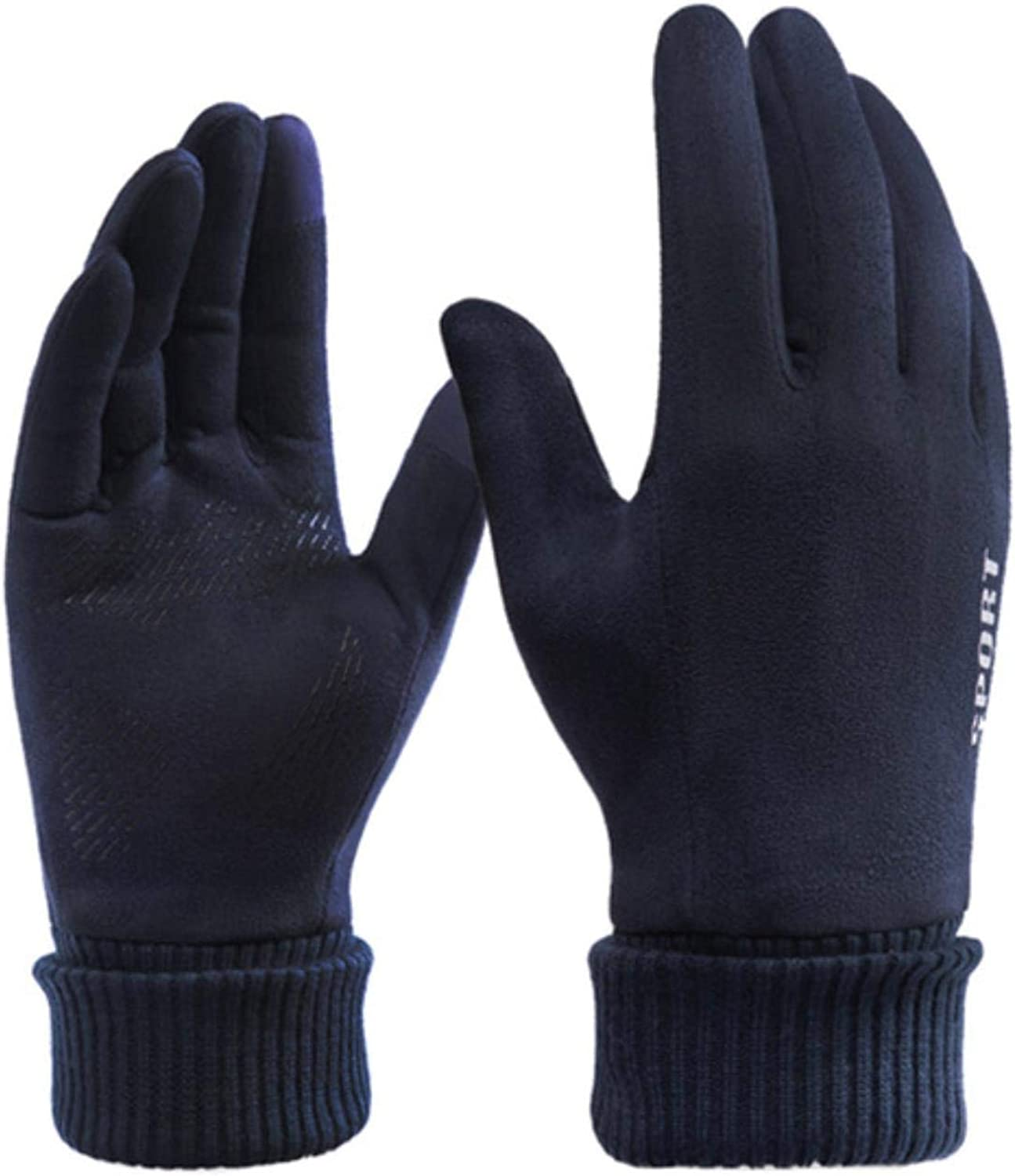 Winter Men Gloves Outdoor Keep Warm Touch Screen Riding Motorcycle Gloves Male Suede Windproof Cold Gloves Full Finger
