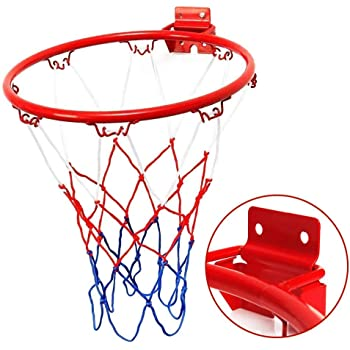 32cm Wall Mounted Basketball Hoop And Netting Metal Hanging Indoor Sports