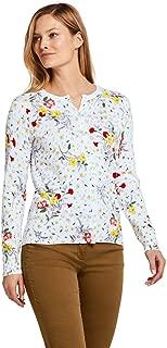 Women's Petite Supima Cotton Long Sleeve Cardigan Sweater - Print