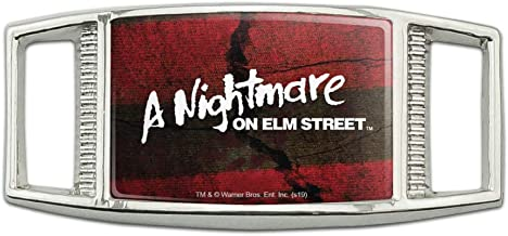 A Nightmare on Elm Street Logo Rectangular Shoe Shoelace Shoe Lace Tag Runner Gym Charm Decoration