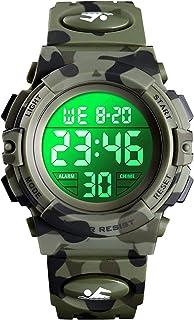 Orologio digitale per bambini, orologi sportivi impermeabile con sveglia/cronometro/12-24H, elettronico orologio da polso ...