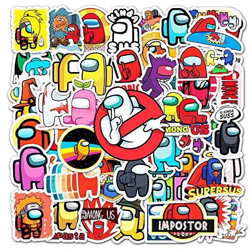 Among US (50 Pcs) Vinyl Stickers Decals for Laptop Water Bottles Bike Skateboard Luggage Computer Hydro Flask Toy Phone Snowboard. DIY Decoration as Gifts for Kids Girls Teen