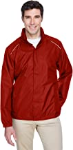 Core 365 Mens Climate Seam-Sealed Lightweight Variegated Ripstop Jacket (88185)- Classic Red 850,Medium