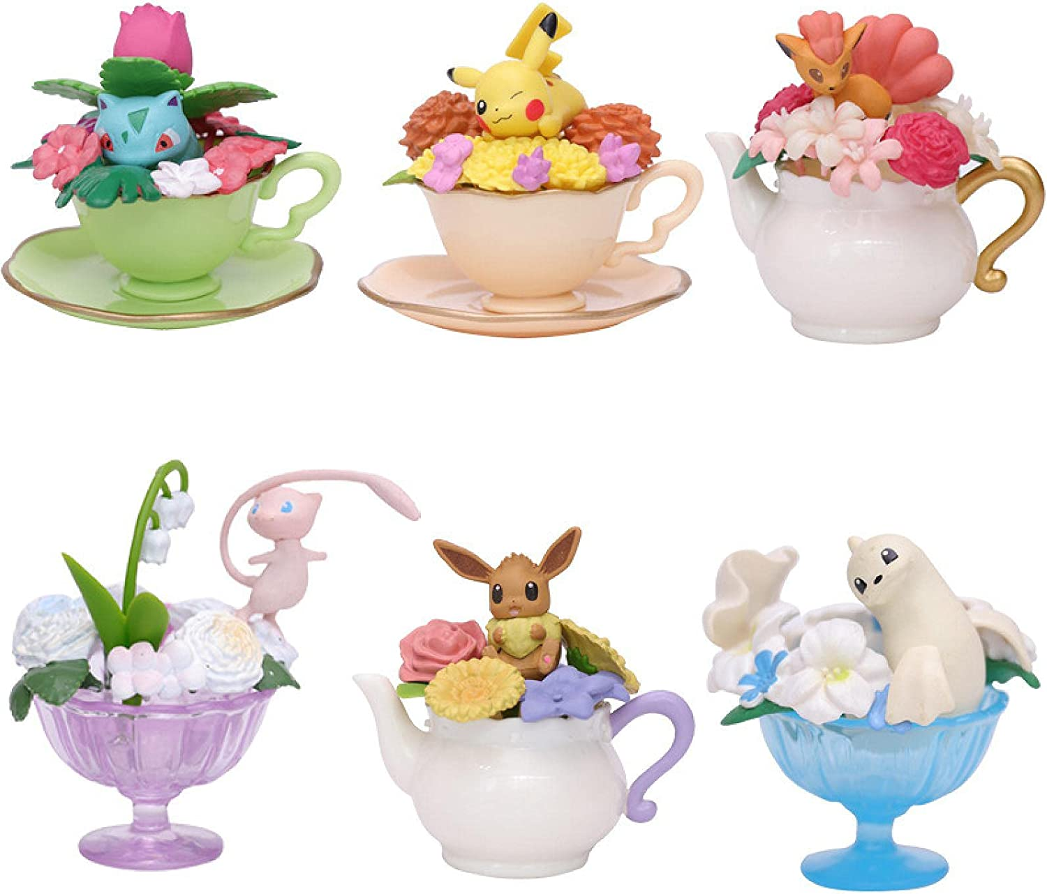 6Pcs 5-7Cm Minneapolis Mall Pokemon Blind Special Campaign Box Toy Doll Little Dream Flower Teacup