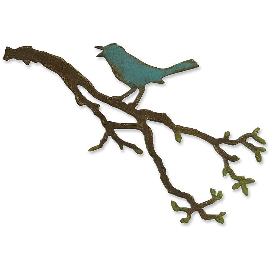 Sizzix 657833 Bigz Die Bird Branch by Tim Holtz, Multicolor