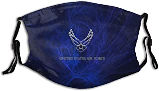 Us Air Force Space Fashionable Protective Face Mask Scarf Mouth Balaclava Reusable Adjustable Washable Outdoors