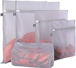Mesh Laundry Bag for Delicates, Lingerie Bag for Laundry, Bra, Underwear, Blouse, Shoes, Sock, Dress, T-Shirt (Grey), Polyester, 5 Pcs (Grey)1, 5 Pcs