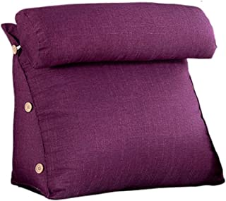 NZQSJKB Triangle Back Sofa Bay Window Casual Reading Waist Pillow, Detachable, Removable and Washable, Multi-Color Selection Reading Pillow (Color : Purple, Size : 45CM)