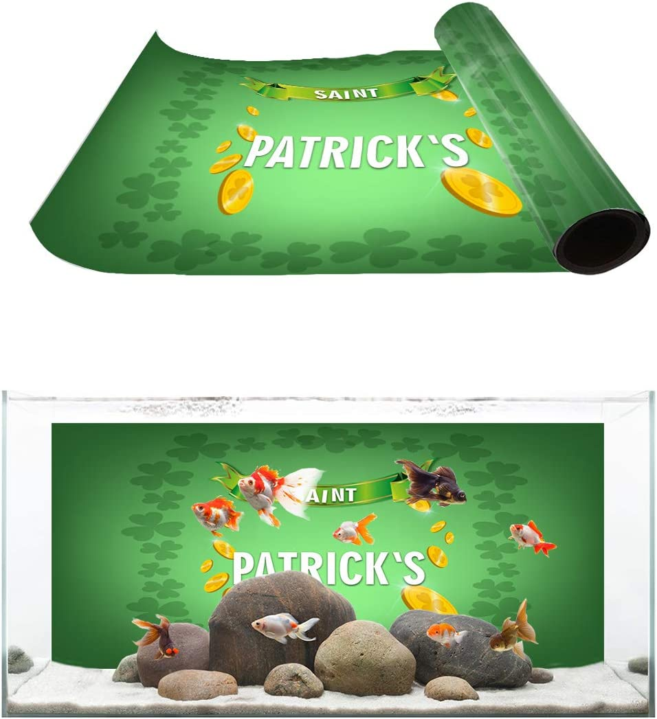 TH XHome Aquarium Décor Backgrounds Finally New products, world's highest quality popular! popular brand St. Patrick's an Day Clover