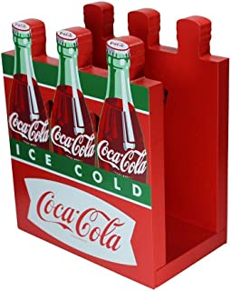 Coca-Cola Wooden Fishtail Six Pack Napkin Holder