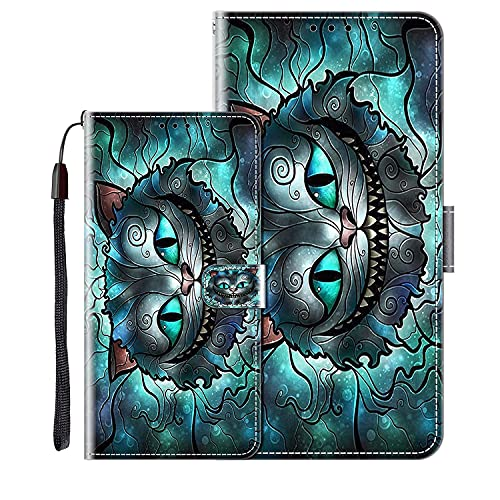 vingarshern Klapphüllen für Alcatel Flash Plus 2 Schutzhülle Mit Magnetverschluss Flip Etui Lederhülle Handytasche ALCATEL Flash Plus2 Hülle Klappbares Leder Brieftasche,Katze Muster-2