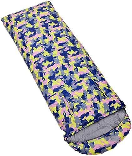 DAFREW Sac de Couchage enveloppe, équipement de Plein air Four Seasons Keep Warm Sleep Down Sac de Couchage Adulte avec Sac de Compression (Couleur   Camouflage 3, Taille   1.2KG)
