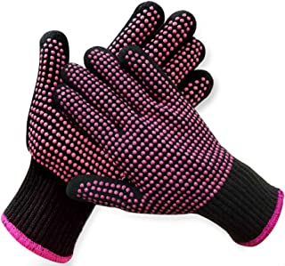 2 Pcs Professional Heat Resistant Glove for Hair Styling Heat Blocking Gloves for Curling, Flat Iron and Hair Styling Tool...