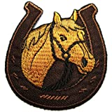 Horse Equestrian/horseshoe Embroidered Iron on Patch