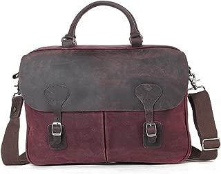 Mens Bag Casual Business Briefcase Shoulder Messenger Crossbody Satchel Bag,Black/Fuchsia/Green/Khaki Office Vintage Style Backpack Handbag High capacity