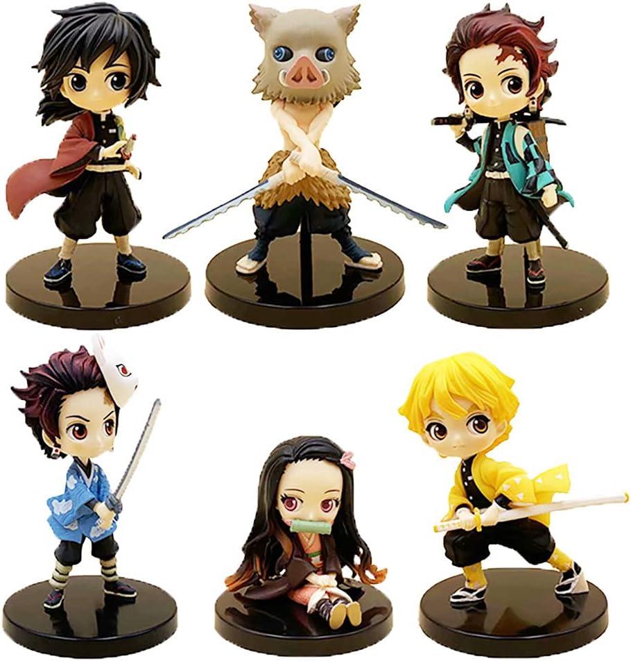 Akazan 6 Pieces Set Limited Edition Statues Mini Popular popular Cute Demo mart of