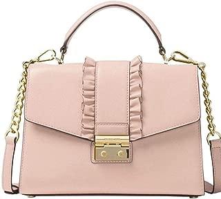 Michael Kors Sloan Medium Top Handle Leather Satchel, Soft Pink