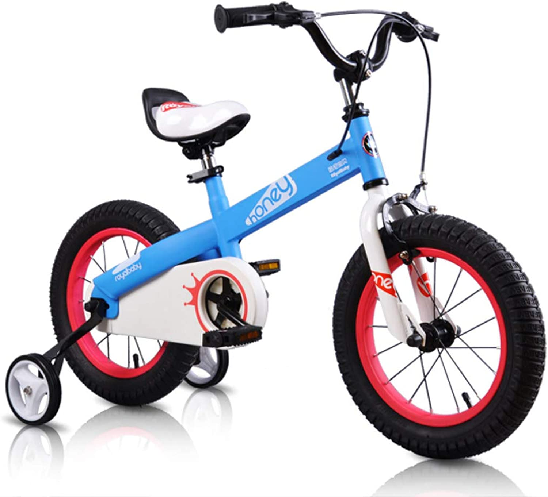 Venta en línea de descuento de fábrica Bicicletas para Niños, Niños y niñas, Cochecito de bebé, Bicicleta Bicicleta Bicicleta de Montaña, Bicicleta para bebé de 3-7 años, 14 Pulgadas, Azul  hasta 42% de descuento