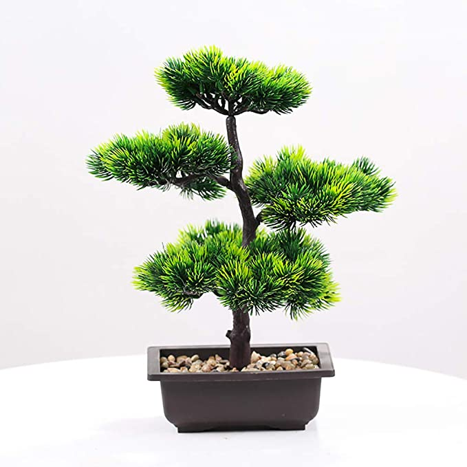 Artificial Green Plant Bonsai Potted Simulation Pine Tree Home Office Decoration
