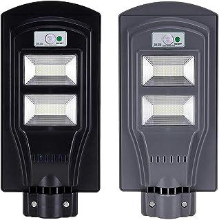 BBZZ Veilleuse solaire d'extérieur 40 W avec détecteur de mouvement PIR, étanche, éclairage de rue, éclairage automatique ...