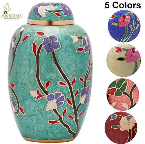 Ansons Urns Flower Cremation Urn