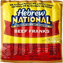Hebrew National Beef Franks, 12 Oz (4 Pack) 28 Total Hotdogs