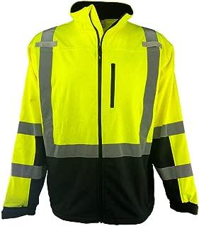 Hi Vis Safety Soft Shell Jacket Full Zip ANSI CLASS 3 Men's (3XL)