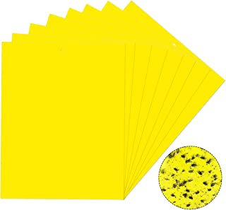 Vascinate 20PCS Yellow Sticky Fly Traps 20x15cm, Dual-Sided Sticky Traps, Fly Paper Stickers, Plant Fly Catchers, Catcher Sticky Board for Flying Plant Insect Aphids, Leafminers (Included Twist Ties)